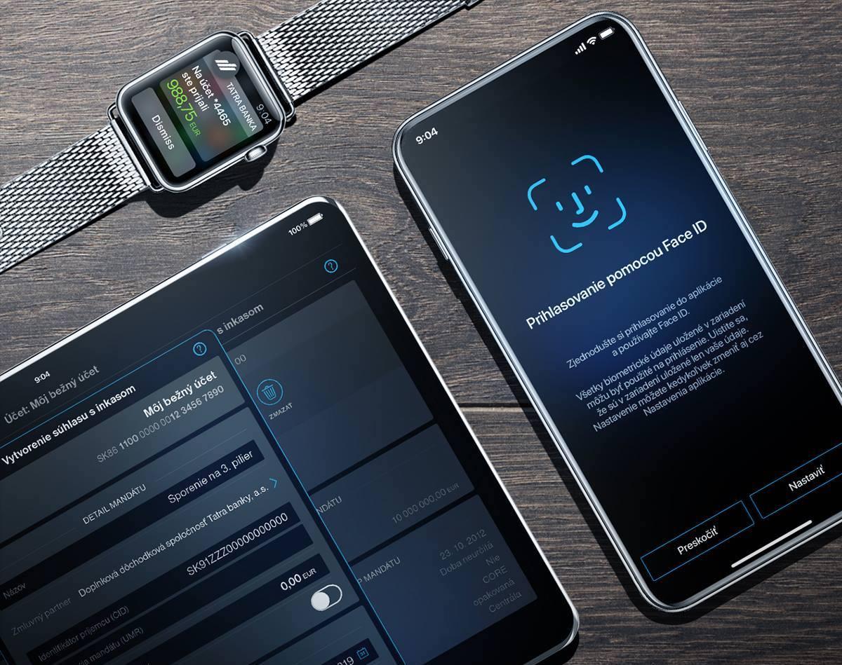 tatrabanka faceid - Tatra banka bude podporovať Apple Pay, služba by mala byť spustená už čoskoro