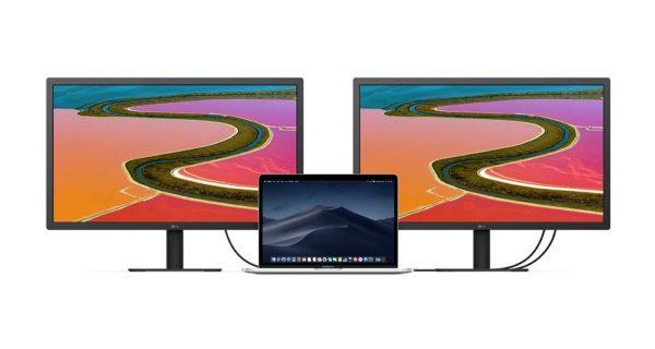 """LG UltraFine 4K Display 237 mac daisy chaining 600x320 - Nového monitoru od Applu se nedočkáme, místo toho se v nabídce objevil nový 23,7"""" displej od LG"""
