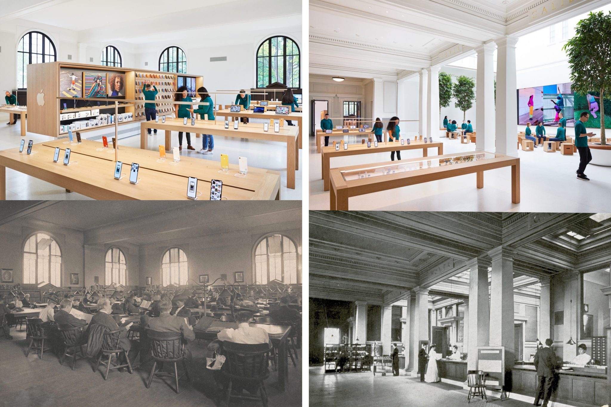 carnegie library apple before after - Galéria: Nový Apple Store vo washingtonskej Carnegie Library