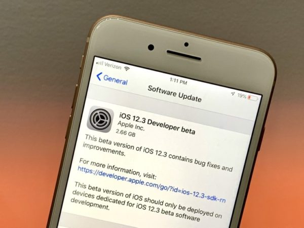 iOS 12 3 update 3 600x450 - Apple včera vydal iOS 12.3 beta 6