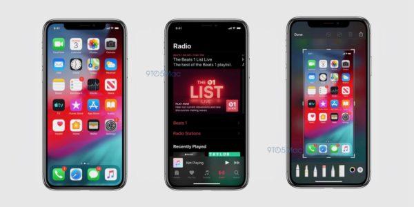 ios 13 screenshot dark mode 600x300 - Objevily se oficiální screenshoty iOS 13, které přinese Dark Mode, předělané připomínky a další novinky