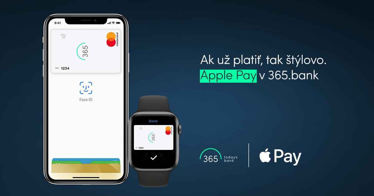 365 apple pay start - Druhá vlna Apple Pay: pridáva sa Poštová banka a 365.bank