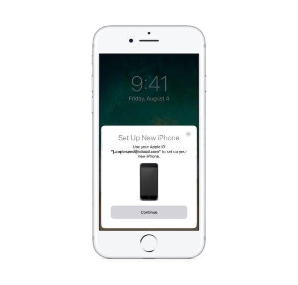 iphone7 ios11 home setup new iphone quick start 600x573 - Ako funguje nová funkcia migrácie dát zo starého do nového iPhonu?