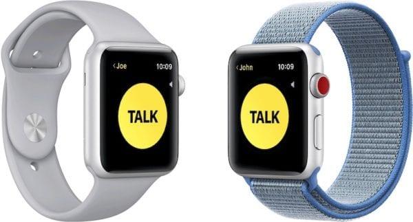 walkie talkie pair 600x323 - Apple musel vypnout funkci Vysílačka na Apple Watch - umožňovala odposlech
