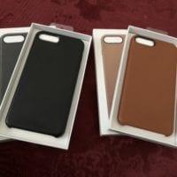 Predám 2 obaly pre iPhone 7 Plus - kožené